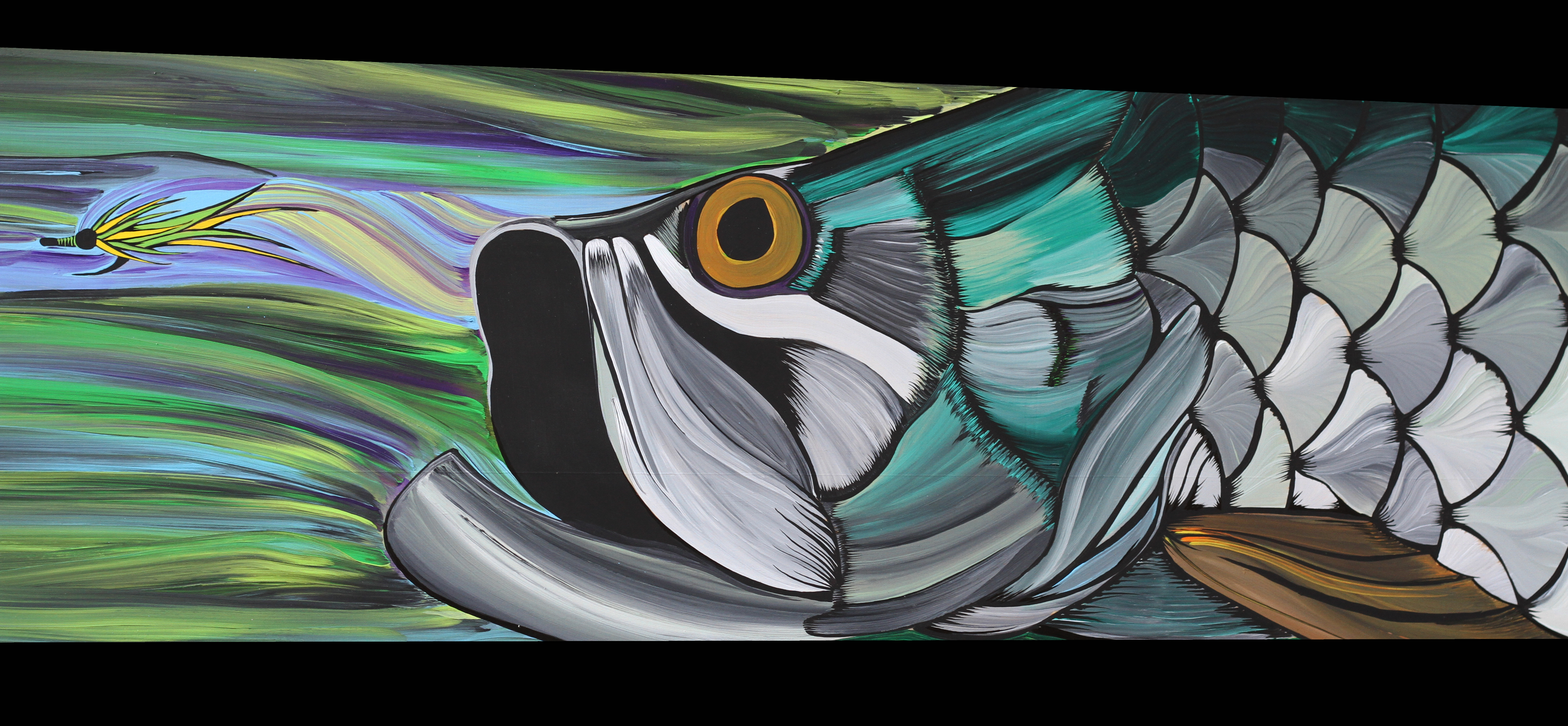 Fly fishing art the incredible paintings of brad mcminn for Fly fishing art
