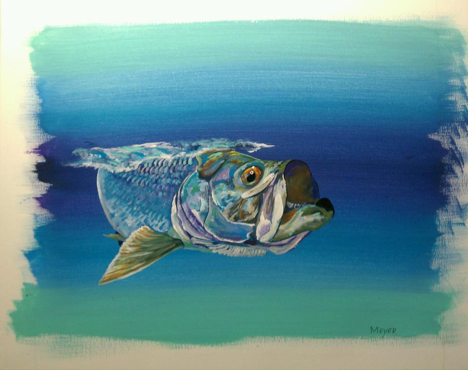 Fly fishing art beautiful paintings from michael meyer for Fly fishing art