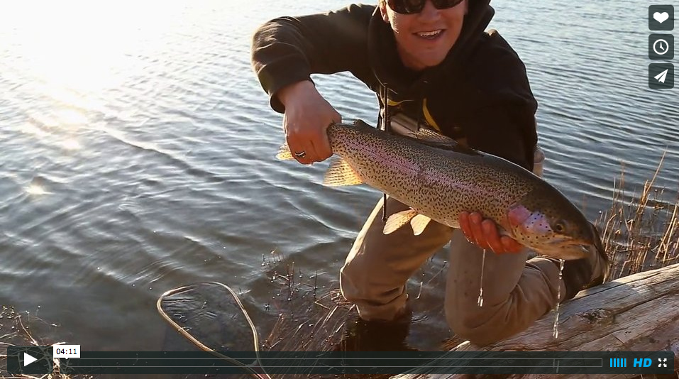 Video fly fishing for private lake trout in oregon in for Private fishing lakes