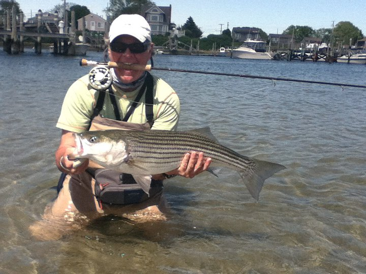 Fly fishing guide profile capt jim barr of skinny water for Best striper fishing spot in ri