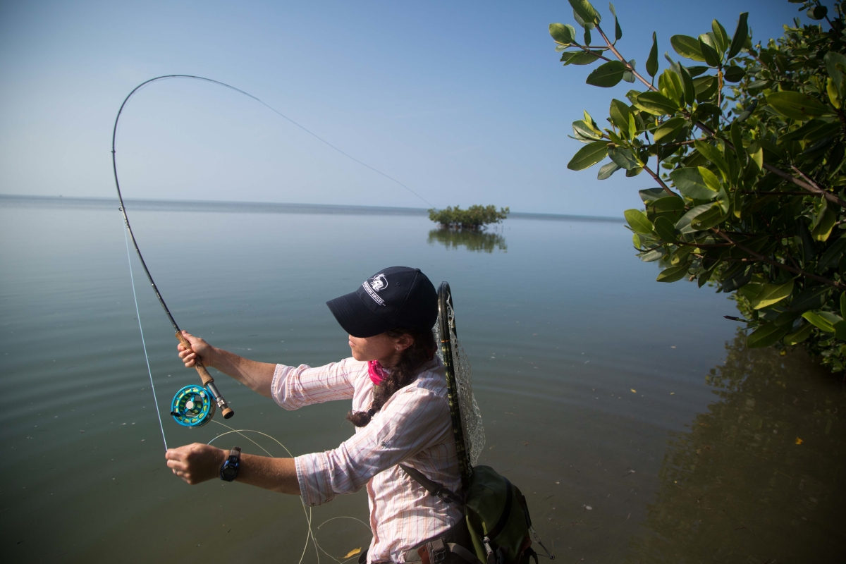 Fly fishing photo aimee eaton in florida the venturing for Fly fishing photography