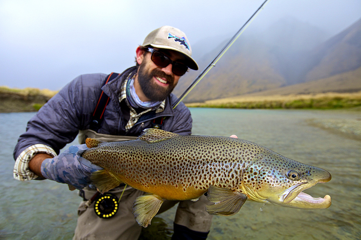 Fly fishing photo lucas young with a beautiful south for Brown trout fly fishing
