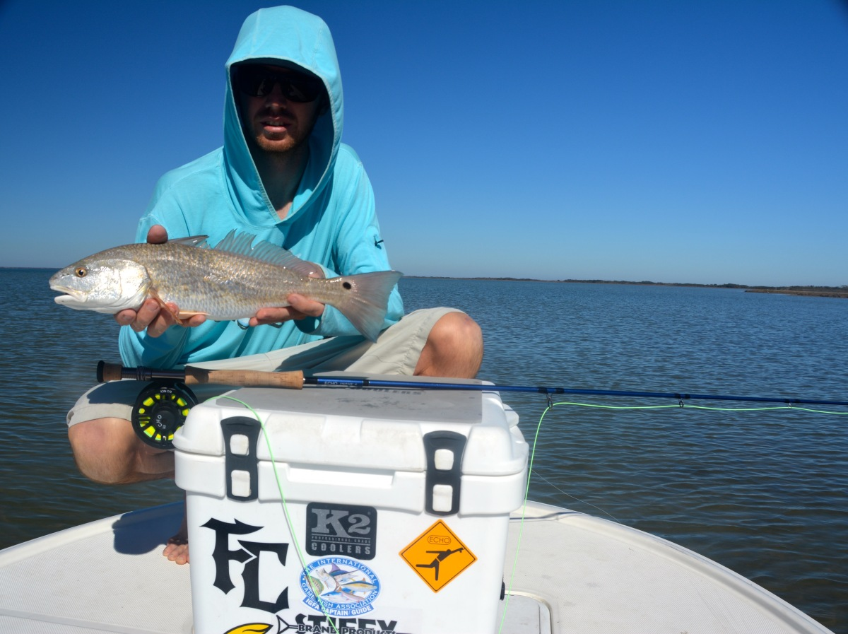 Fly fishing photo rockport texas redfish the venturing for Rockport fishing guides