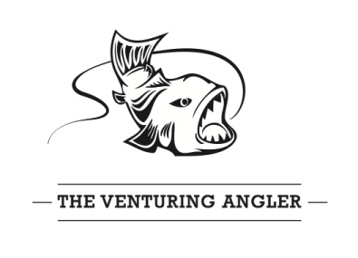 The Venturing Angler logo white