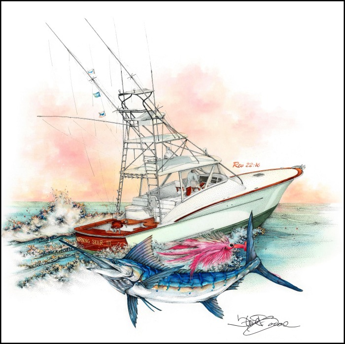 Artist profile the bluewater fishing art of steve goione for Morning star fishing