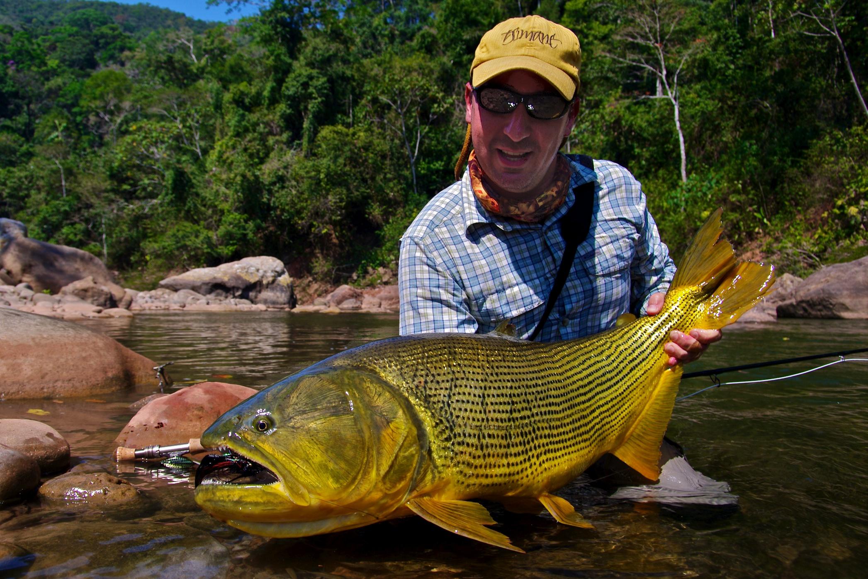 Fly fishing photo tsimane golden dorado the venturing for Golden dorado fish