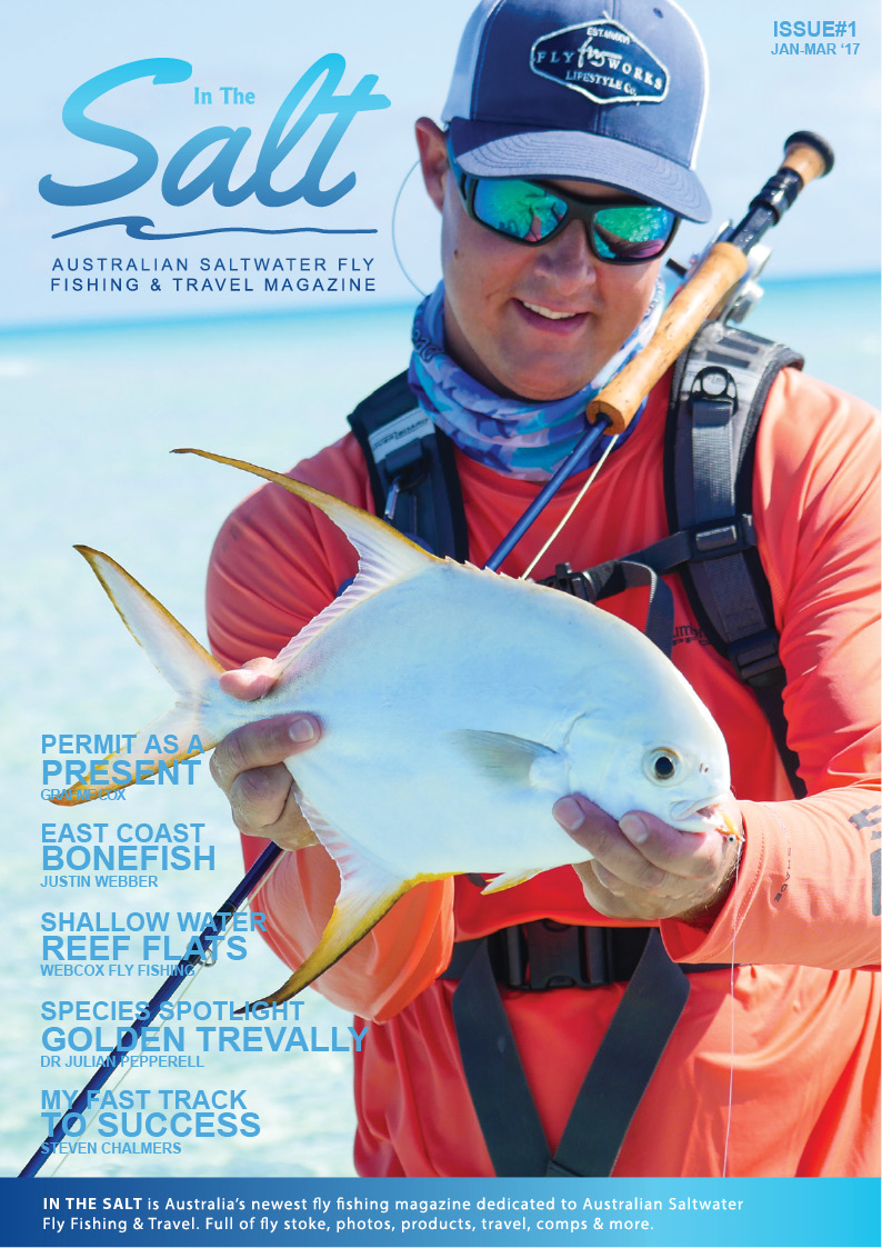 Permit bonefish golden trevally and more in in the salt for Saltwater fly fishing magazine