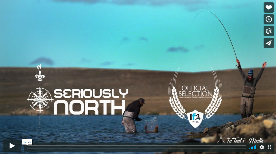 Trailer fly fishing for arctic char at the canadian for International fly fishing film festival